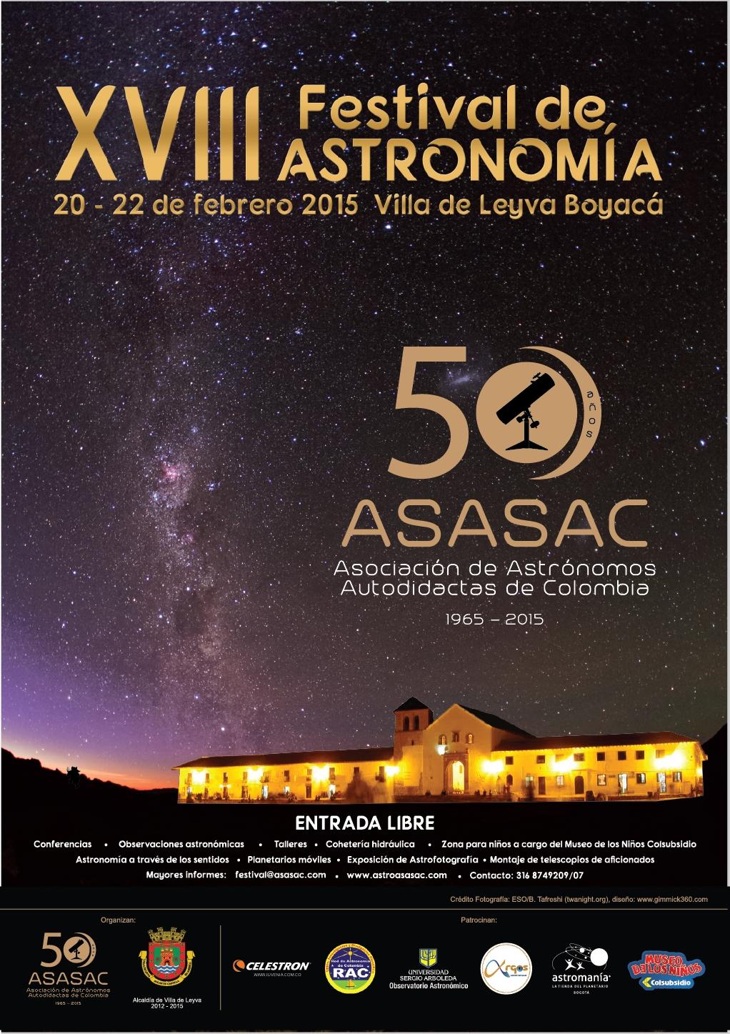 XIII Festival de Astronomía de Villa de Leyva