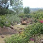 Casa a 1 Km con bellos jardines.